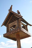 Dekoratives starling Haus Stockbilder