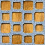 Dekoratives Täfelungsmuster - Innenwanddekoration stock abbildung