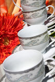 Dekoratives Tee- und Kaffeeset Stockfotografie