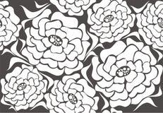 Dekoratives vektormuster mit dekorativer Blume Stockfotos
