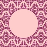 Dekorativnaja round frame seamless pattern Royalty Free Stock Photo