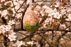 Dekorativt ägg på trädet Royaltyfri Fotografi
