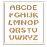 dekorativt alfabet vektor illustrationer