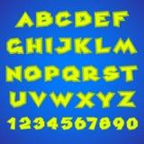 dekorativt alfabet Enkelt djärvt Royaltyfri Fotografi