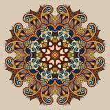Dekorativt andligt indiskt symbol för cirkel av lotusblomma royaltyfri illustrationer