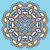 Dekorativt andligt indiskt symbol för cirkel av lotusblomma stock illustrationer