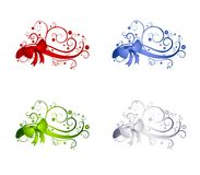 dekorativt band för julgarneringar vektor illustrationer