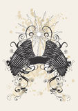 dekorativt baner stock illustrationer