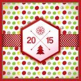 Dekorativt berömkort för nytt år Royaltyfria Foton