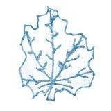 Dekorativt blått blad för jul fotografering för bildbyråer