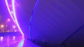 Dekorativt blått exponera för ljus lager videofilmer
