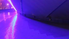 Dekorativt blått exponera för ljus stock video