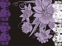 dekorativt blom- bröllop för kort royaltyfri illustrationer