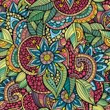 Dekorativt blom- dekorativt för knapphändiga klotter Royaltyfri Foto