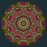 Dekorativt blom- etniskt färgrikt för abstrakt vektor Royaltyfri Foto
