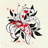 dekorativt blom- för bakgrund Arkivfoto
