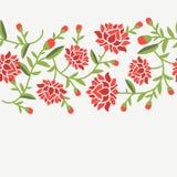 dekorativt blom- för kort stock illustrationer