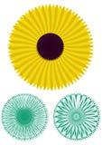 Dekorativt blom- modellmotiv Arkivbild
