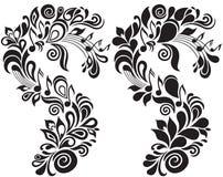 dekorativt blom- musikaliskt tema Royaltyfri Bild