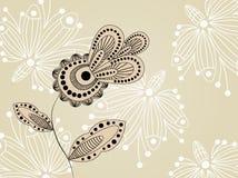 dekorativt blommamodell Arkivbild
