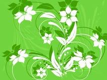 dekorativt blommamodell royaltyfri illustrationer