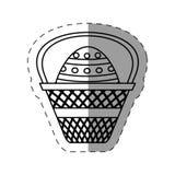 dekorativt easter korgägg royaltyfri illustrationer