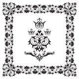 Dekorativt element för kantramdesign royaltyfri illustrationer