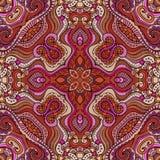 Dekorativt etniskt blom- sömlöst för abstrakt vektor Royaltyfri Foto