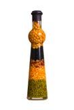 dekorativt exponeringsglas för flaska Arkivbild