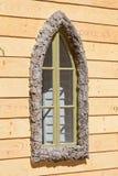 dekorativt fönster Arkivfoton