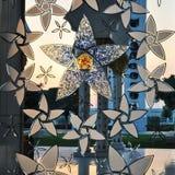 Dekorativt fönster för storslagen moské Royaltyfria Bilder