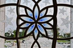 Dekorativt fönster för storslagen moské Royaltyfri Fotografi