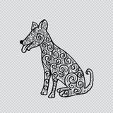 Dekorativt förfölja kinesisk teckenzodiac royaltyfri illustrationer