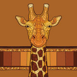 Dekorativt giraffhuvud Arkivfoton