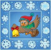 Dekorativt hälsningkort 7 för jul royaltyfri illustrationer