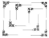 dekorativt hörn vektor illustrationer