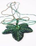 dekorativt halsband för pärla Royaltyfria Foton