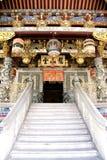 dekorativt ingångshus för kinesisk clan Arkivbilder