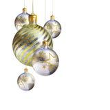 dekorativt isolerat elegantt för baublesjul Arkivbilder