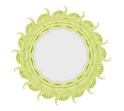 dekorativt isolerat guld- för ram Arkivbild