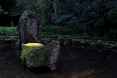 Dekorativt japanskt damm royaltyfri foto