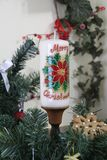 Dekorativt julljus royaltyfri foto
