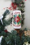 Dekorativt julljus arkivfoto