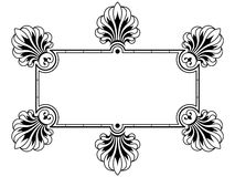 dekorativt kantdesignelement stock illustrationer