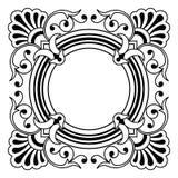dekorativt kantdesignelement Arkivbild