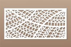 Dekorativt kort för att klippa Geometrisk etnisk modell Laser-snittpanel Förhållande1:2 också vektor för coreldrawillustration stock illustrationer