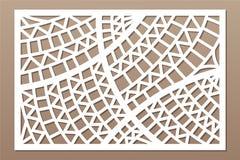 Dekorativt kort för att klippa Geometrisk etnisk modell Laser-snittpanel Förhållande2:3 också vektor för coreldrawillustration royaltyfri illustrationer