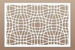 Dekorativt kort för att klippa laser eller plottaren Linjär geometrisk modellpanel Laser-snitt Förhållande2:3 också vektor för co stock illustrationer