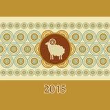 Dekorativt kort för nytt år för RAM Royaltyfria Foton