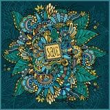 Dekorativt kort Sale för härlig dekorativ natur royaltyfri illustrationer